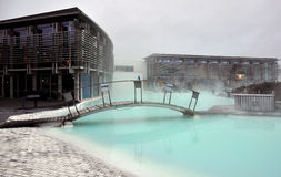 Błękitnej laguny geotermiczny zdrój Zdjęcia Royalty Free