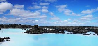 Błękitnej laguny Termiczna wiosna zdjęcia stock