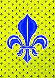 Błękitnej lelui królewskości Francuski symbol ilustracji