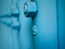 Błękitnej pokrytej dokrętki brudny boczny widok Zdjęcia Stock