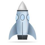 Błękitnej pozyci rakiety odosobniony wektor Fotografia Royalty Free