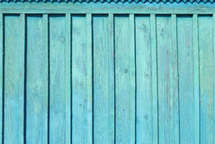 Błękitnej stajni Drewniana ściana Obraz Royalty Free