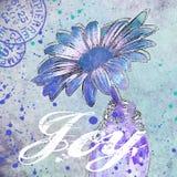 Błękitnej stokrotki kwiatu ilustracja ilustracja wektor