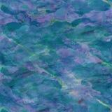 Błękitnej zieleni Aqua akwareli papieru tło Zdjęcia Royalty Free