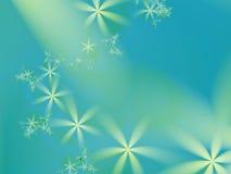 Błękitnej zieleni, cyraneczki fractal z przypadkowym uspokaja kwiecistym wzorem/ ilustracji