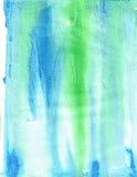 Błękitnej zieleni farby tekstury tło Obrazy Stock