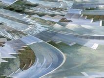 Błękitnej zieleni krzywy i spirale Obraz Stock