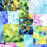Błękitnej zieleni tła patchwork ilustracja wektor