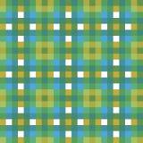 Błękitnej zieleni tartanu szkockiej kraty czeka tkaniny tekstury kwadrata piksla wektoru bezszwowy wzór dla tkaniny, tapeta, scra royalty ilustracja