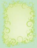 Błękitnej zieleni zawijasa granica Obraz Royalty Free