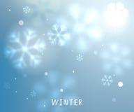 Błękitnej zimy horyzontalny wektorowy tło royalty ilustracja