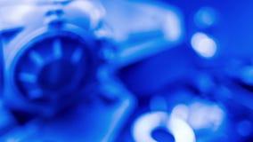 Błękitni środki wystawiają, gładki technologii tła poczęcie zdjęcie wideo
