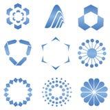 Abstrakcjonistyczni logów kształty Fotografia Royalty Free