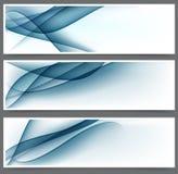 Błękitni abstrakcjonistyczni sztandary. Fotografia Royalty Free