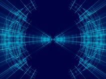 Błękitni abstrakcjonistyczni tło, linie i światło, Obraz Royalty Free
