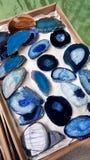 błękitni agatów talerze Obraz Royalty Free
