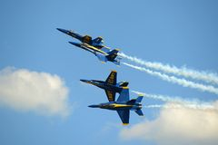 Błękitni aniołowie przy Wielkim Nowa Anglia pokazem lotniczym Obrazy Royalty Free