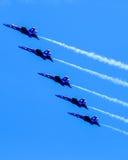 Błękitni aniołowie w formaci Zdjęcia Royalty Free