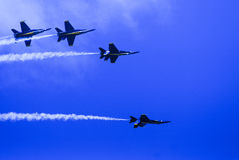 Błękitni aniołowie w formaci Obrazy Royalty Free