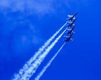 Błękitni aniołowie w formaci Fotografia Stock