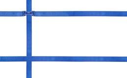Błękitni atłas faborki i łęki odizolowywali - set 23 Fotografia Stock