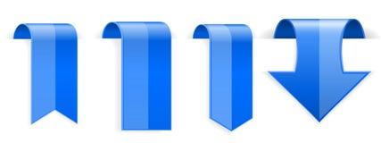 Błękitni błyszczący 3d majchery ilustracji