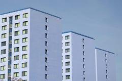 Błękitni bloki mieszkalni Obraz Stock