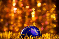 Błękitni boże narodzenia balowi Obrazy Royalty Free