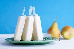 Błękitni bonkreta lody Popsicles Zdjęcie Royalty Free