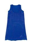 Błękitni cekiny zwierają suknię Fotografia Royalty Free