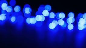 Błękitni defocused światła, okręgu bokeh skutek zbiory