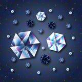 Błękitni diamenty Obraz Stock