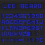 Błękitni DOWODZENI cyfrowi angielscy uppercase chrzcielnica, liczba i mathematics, Obraz Royalty Free