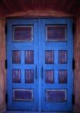 Błękitni drzwi zdjęcie royalty free