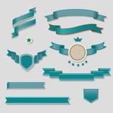 Błękitni faborki SetÂŒ Obrazy Royalty Free