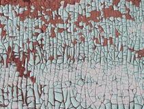 Błękitni farb dripps na ścianie zamyka up błękitny farba wyciek na tle Zdjęcie Royalty Free