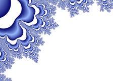 Błękitni Fractal ornamenty na bielu ilustracja wektor