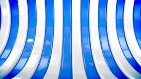 Błękitni i biali kolorów paski ruszają się curvy royalty ilustracja