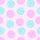 Błękitni i różowi cytrusy royalty ilustracja