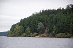 Błękitni jeziora w Schurovo Obrazy Royalty Free