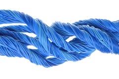 Błękitni komputerów kable Obrazy Stock