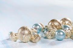 Błękitni koraliki Obrazy Royalty Free
