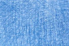 Błękitni kredkowi rysunki na białej tło teksturze Zdjęcie Royalty Free