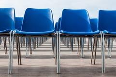Błękitni krzesła Zdjęcie Royalty Free