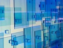 Błękitni kwadraty Zdjęcia Stock