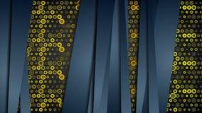 Błękitni lampasy i złota żółta okręgu wideo animacja ilustracji