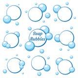 Błękitni lotniczy bąble od wody ilustracja wektor