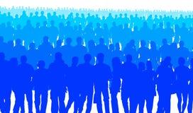 Błękitni ludzie Zdjęcia Royalty Free