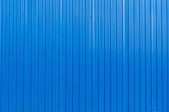 Błękitni metal powierzchni pionowo lampasy deseniują tekstury tło fotografia stock