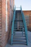 Błękitni metali schodki Zdjęcie Royalty Free